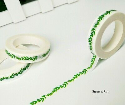 AU2.30 • Buy Japan Washi Tape Green Leaves 8mm X 7m MT4473