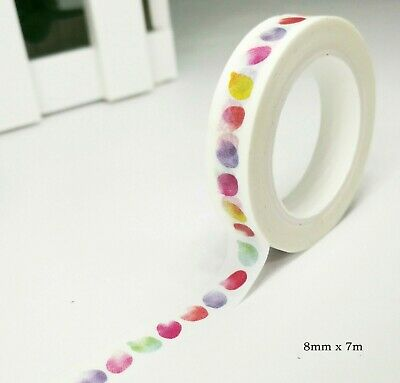 AU2.30 • Buy Japan Washi Tape Watercolor Petal 8mm X 7m MT4475