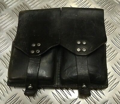 Genuine Vintage Military Issued Double Leather Utility / Ammo Small Pouch Faulty • 12.99£