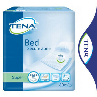TENA Incontinence Bed Pads Super 60x60cm Pack 30 Weak Bladder Mattress Protector • 12.60£