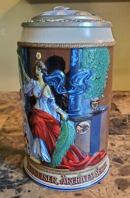 $ CDN25.27 • Buy 1995 Budweiser Archives Iv Series Lidded Stein Mirror Of Truth Collector Ed