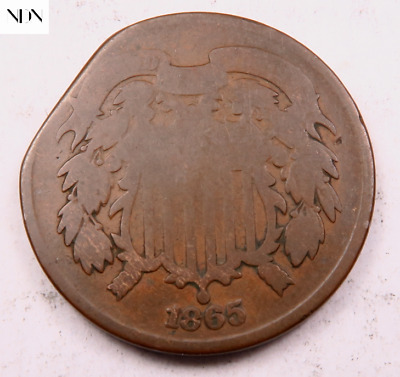 $ CDN18.74 • Buy 1865 Two Cent Piece (2 Cent) ~ Good ~ Clipped Error ~ #119