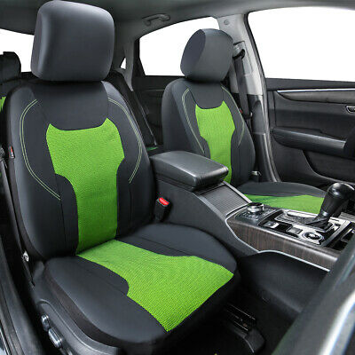 AU94.99 • Buy Green Leather With Mesh Car Seat Covers Breathable Universal For Sedan SUV 9 PC