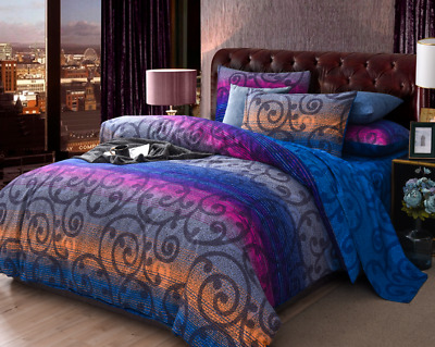 AU35 • Buy All Size Bed Ultra Soft Quilt Duvet Doona Cover Set Bedding Pillowcase Blue