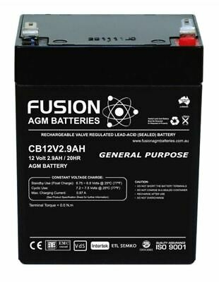 AU25.99 • Buy SSB CB12V2.9AH 12V 2.9Ah AGM VRLA SLA Battery