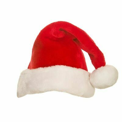 £5.49 • Buy Super Deluxe Plush Santa Claus Hat Father Christmas Fancy Dress Accessory