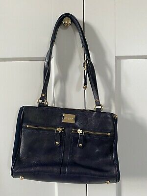 £25 • Buy Modalu Pippa Small Navy Leather Bag