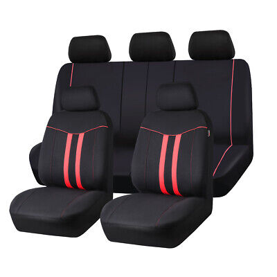 AU47.49 • Buy Red Universal Rainbow Car Seat Covers Airbag Compatible Washable For Sedan SUV