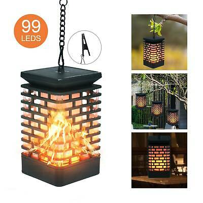 1pc 99 LED Flame Solar Torch Light Flickering Home Garden Hanging Lantern Lamp • 8.99£