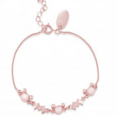 £16 • Buy Disney Couture Kingdom Minnie Mickey Mouse Rose Gold-Plated Bracelet