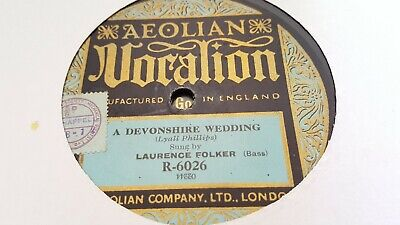 Laurence Folker A Devonshire Wedding & The Floral Dance Vocalion R6026 • 11.99£