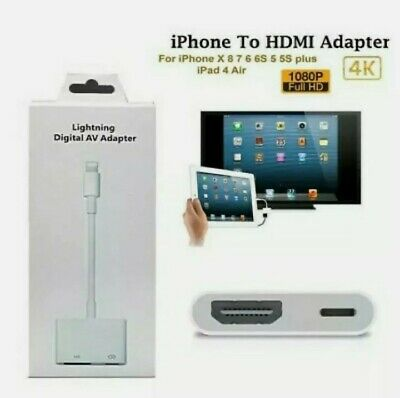 Lightning To HDMI Digital TV AV Adapter Cable For Apple IPad IPhone 5 6 7 8 X XS • 8.98£