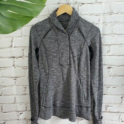 $ CDN75 • Buy Lululemon Coco Pique Think Fast Pullover Size 8 Rulu Longsleeve Top Shirt