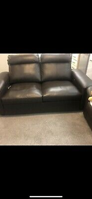 Lindhult Ikea- Brown Leather - 2 Seater Sofa (new Other) • 400£