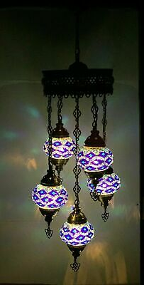 £94.98 • Buy Turkish Moroccan Glass Mosaic Hanging Lamp Ceiling Light Chandeliers