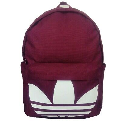 AU44.95 • Buy ADIDAS Originals  Oversized Trefoil Backpack Burgundy School Gym Bag AU Stock!