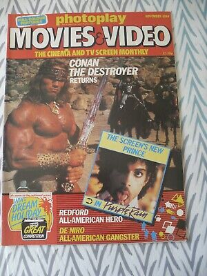 Photoplay November 1984  Arnold Schwarzenegger  Conan  Cover • 5£