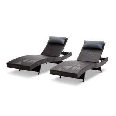 AU175.30 • Buy Outdoor Furniture PE Wicker Sun Lounge Pool Side Chair Sofa Day Bed Poolside Bed
