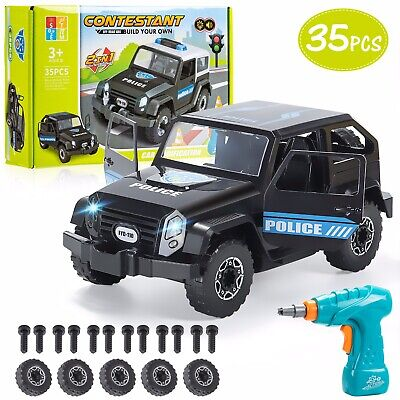 £14.99 • Buy Stem DIY 2 In 1 Toy- Take Apart/ Build Your Own Police Car With Drill Gift