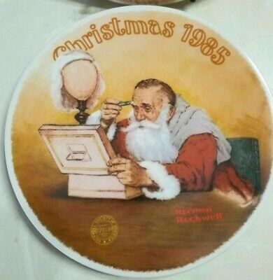 $ CDN26.65 • Buy Norman Rockwell Collector's Plates Scotty Gets His Tree, Grandpa Plays Santa FS
