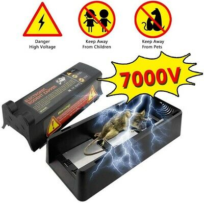 7000V Electric High Voltage Mouse Rat Trap Electronic Rodent Killer Mouse Zapper • 27.59£