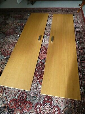 2x Ikea Pax Oak Effect Forsand Wardrobe Doors With Hinges And Handles • 30£