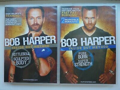 Bob Harper Inside Out Method, Pure Burn + Kettlebell (2x DVD, 2010) Bundle • 29.70£