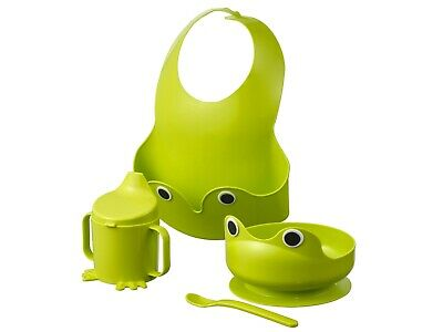 Ikea Mata.4 Piece: Bowl,Bib,Cup,Spoon,Babies,children's Eating,feeding Set NEW . • 9.49£