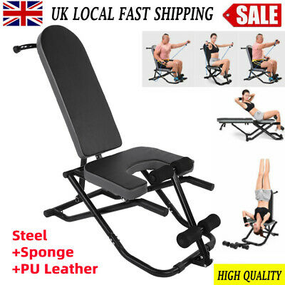 Adjustable Fitness Dumbbell Bench Sit Up Chair Home Incline Flat Gym Exercise UK • 47.69£