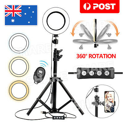 AU23.95 • Buy 6  Selfie LED Ring Light With Tripod Stand Phone Holder For Live Streaming NEW