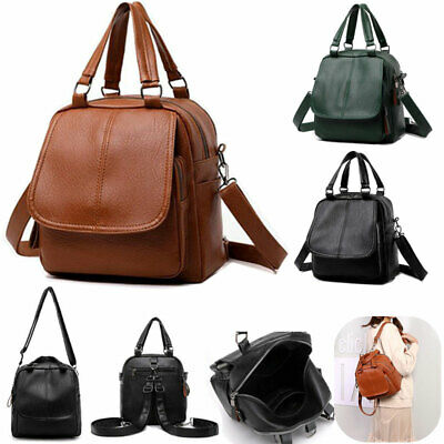 Women PU Leather Backpack Girl Ladies Travel Shoulder Bag Small Rucksack Handbag • 11.88£