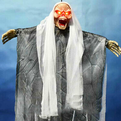 $ CDN7.96 • Buy Halloween Hanging Witch Decorations Outdoor Red Lights Eyes Scary Scream Props