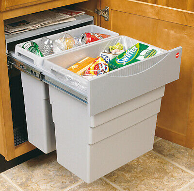Easy Cargo Kitchen Waste Bin Pull Out 1 X 19 & 1 X 30 Litre 500mm - 502.70.522 • 99£