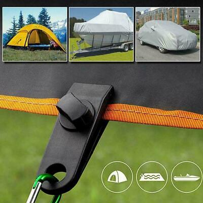 10 X Tent Tarp Tarpaulin Clip Clamp Buckle Camping Tool Heavy Duty Reusable • 7.97£