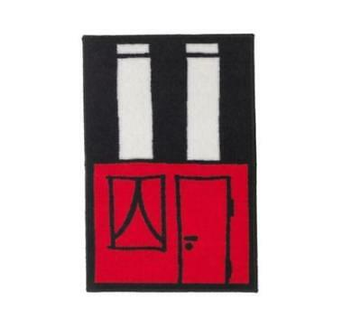 IKEA HEMMAHOS Red Childrens Rug Low Pile Kids Mat Carpet Active Play • 5.20£