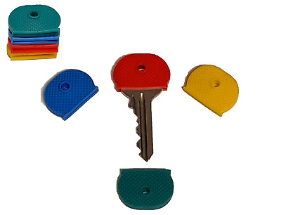 £1.99 • Buy ALL QTY Rubber Key Cap Coloured Covers Plastic Top Cap Cover Tag Door Identifier