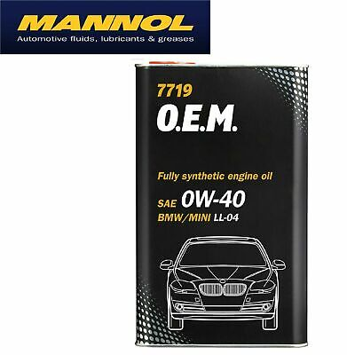 Mannol Fully Synthetic Engine Oil 0W40 4L FOR BMW MINI ACEA C3 LL-04 GM Dexos 2 • 24.47£