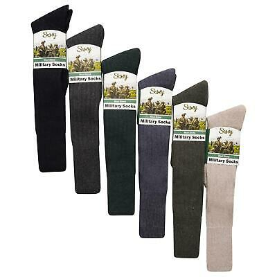 6 Pairs Of Men's Military Socks, Long Knee High Thermal Army Socks, Size 6-11 • 13.95£