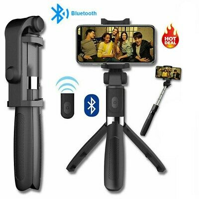 Multifunction Mobile Phone Universal Bluetooth Tripod Wireless Selfie Stand UK • 9.79£