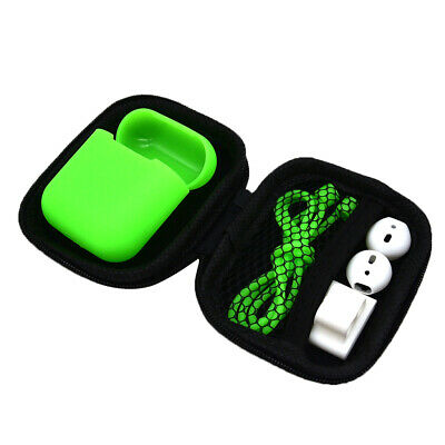 AU10.08 • Buy AirPods Silicone Case Cover + Anti Strap Ear Hook For Apple Airpod Green