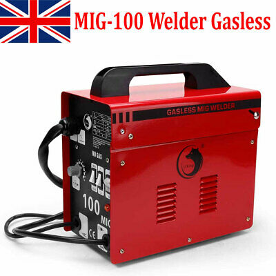 MIG-100 Portable Welder Gasless Welding Machine For Metal Welding With Mask Kit • 116.99£