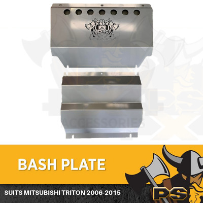 AU179 • Buy SILVER Bash Plate 2pc For Mitsubishi Triton ML MN 06-15 4MM Underbody Sump Guard