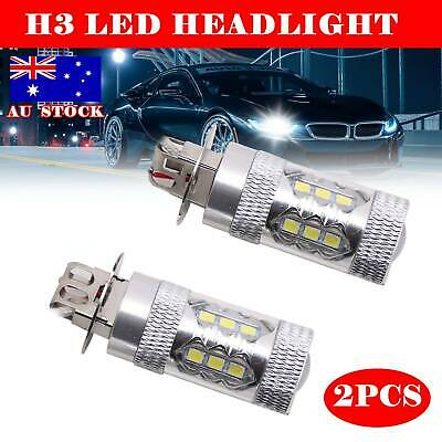 AU14.59 • Buy  2x H3 Led Cree Xbd 160w Headlight Fog Driving Light Bulbs Car Canbus Lamp Globe
