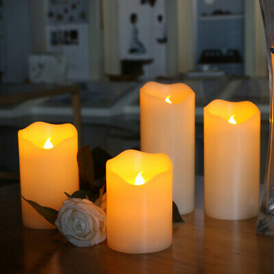 Outdoor Battery Power Flickering Flameless LED Pillar Candle Lights Garden QW • 2.99£