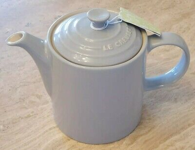 LE CREUSET Stoneware 1.3 Litre Medium Grand Teapot - Light Grey - NEW WITH TAGS • 32.95£