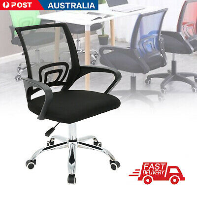 AU56.49 • Buy Ergonomic Office Chair Gaming Computer Mesh Chairs Executive Mid Back Black