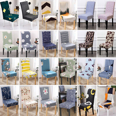 AU16.69 • Buy 1-6X Dining Chair Seat Covers Spandex Slip Banquet Home Protective Stretch Cover