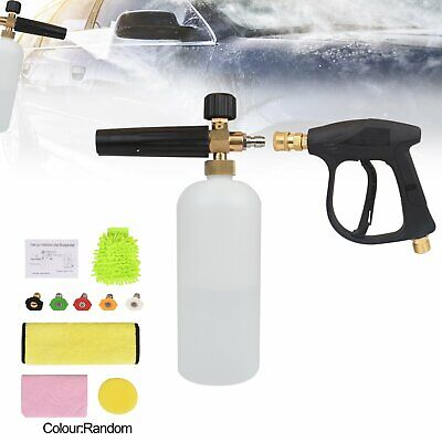 Snow Foam Lance Cannon Soap 1L Bottle Gun Pressure Washer With Water Nozzle Tip • 18.29£
