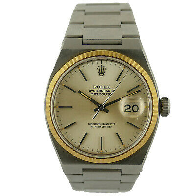 $ CDN4561.90 • Buy Rolex 1979 Oysterquartz Datejust 17000 Gold Dial Stainless Steel Mens Watch