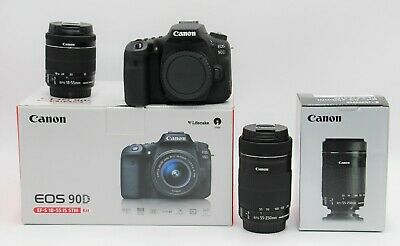 AU2538.22 • Buy Canon 90D Camera +18-55mm STM Lens + 55-250mm F/4-5.6 IS STM + 2 YEARS WARRANTY